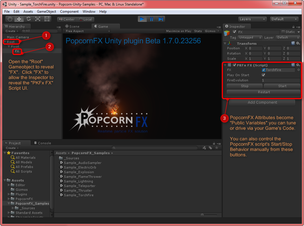 how to get gameobject from project via script unity