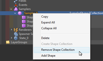 Remove shape collection