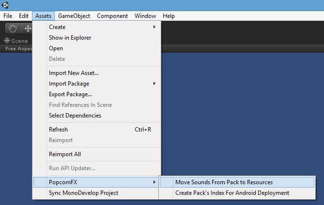 Sound Layers Setup (Unity Plugin) - PopcornFX
