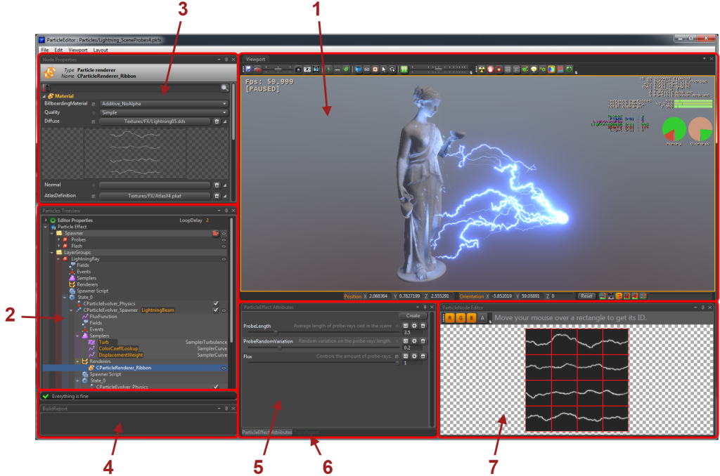 PopcornFx Particle editor main view