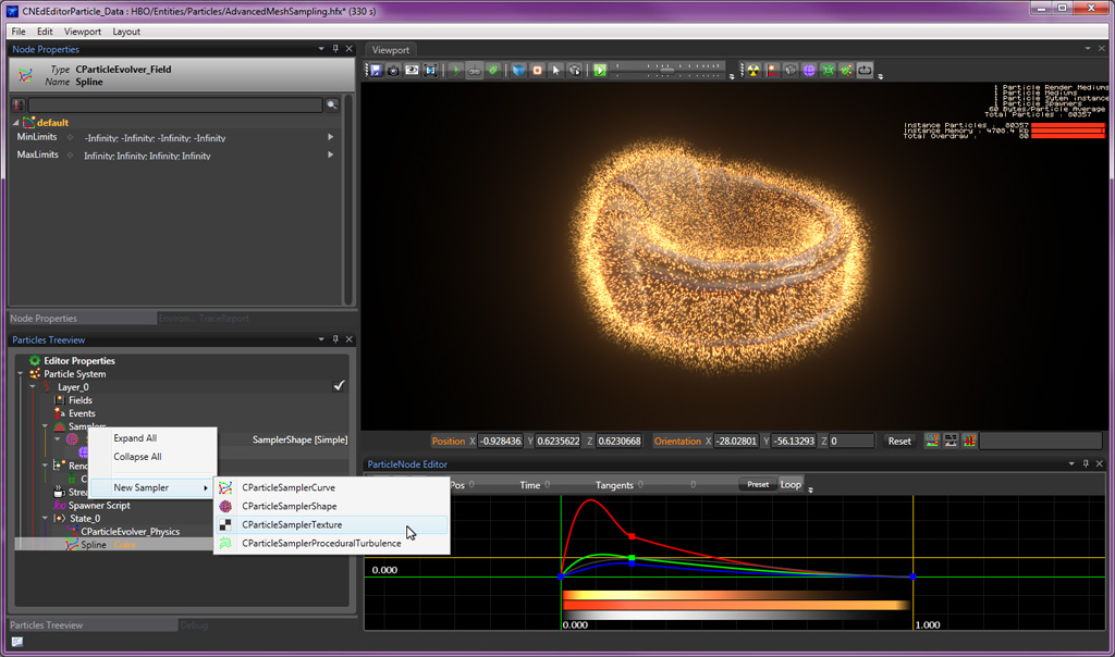 Particle tutorial advanced mesh and texture sampling - PopcornFX