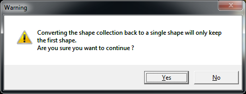 Invalid shape collection removal