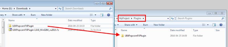 UE4/Plugin installation - PopcornFX