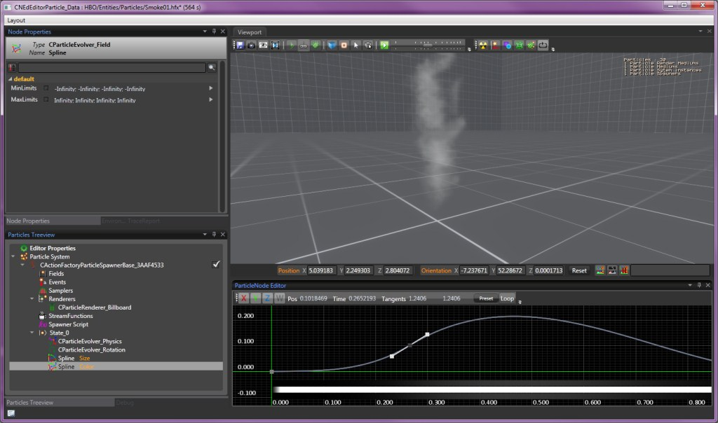 Particle tutorial smoke - PopcornFX