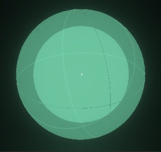 Shape visualization : SPHERE (hollow)