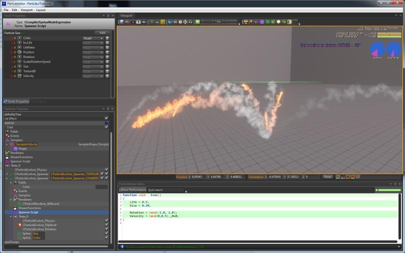 Particle tutorial trail spawner - PopcornFX