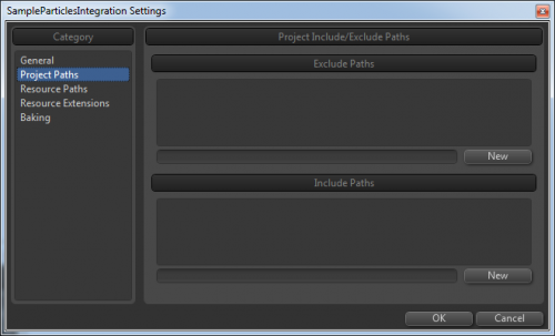 Popcorn-Fx include/exclude paths