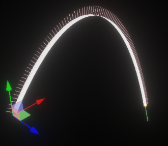 3D ribbon : Axis=Up